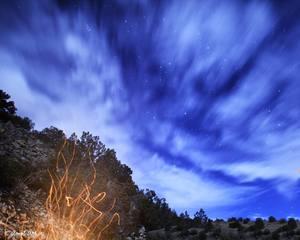 Lotus Campfire & Stars by Art Priv Amol
