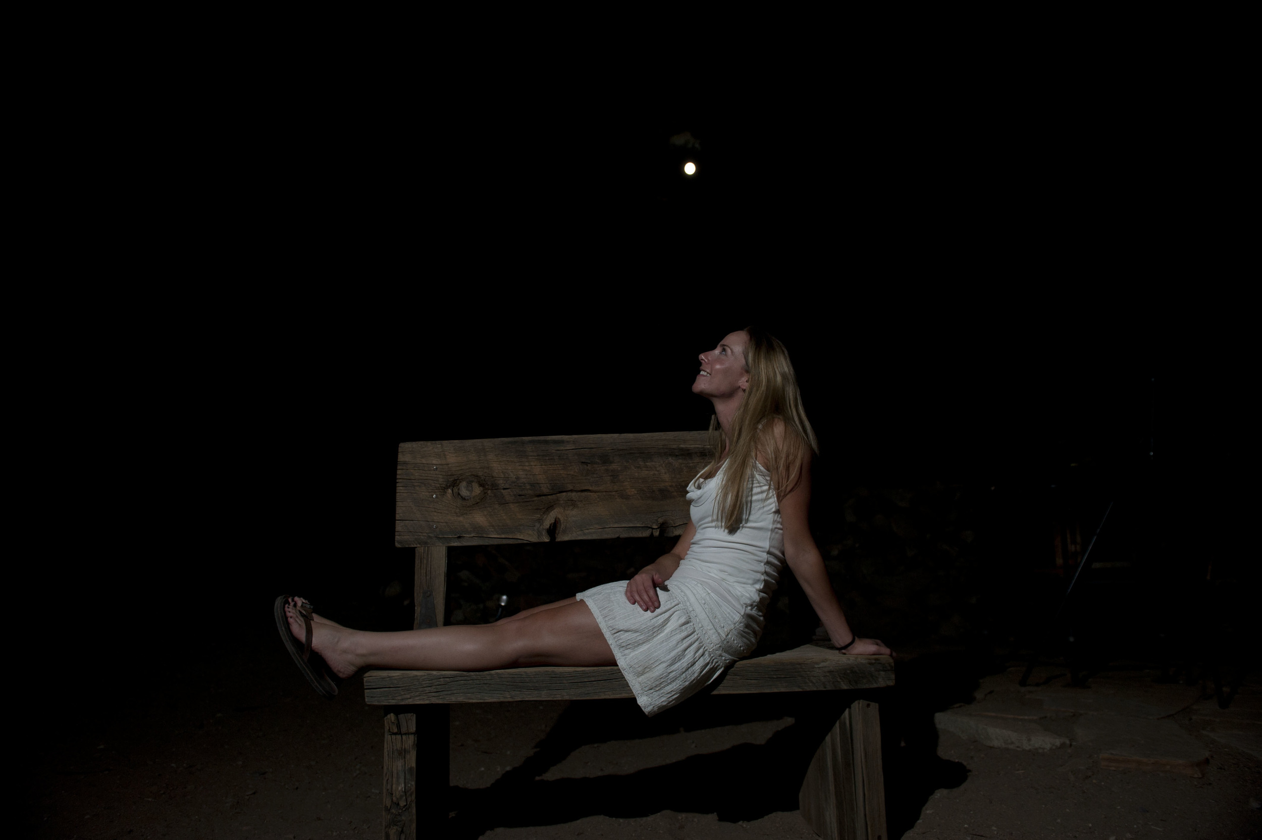 Moon Goddess Bench