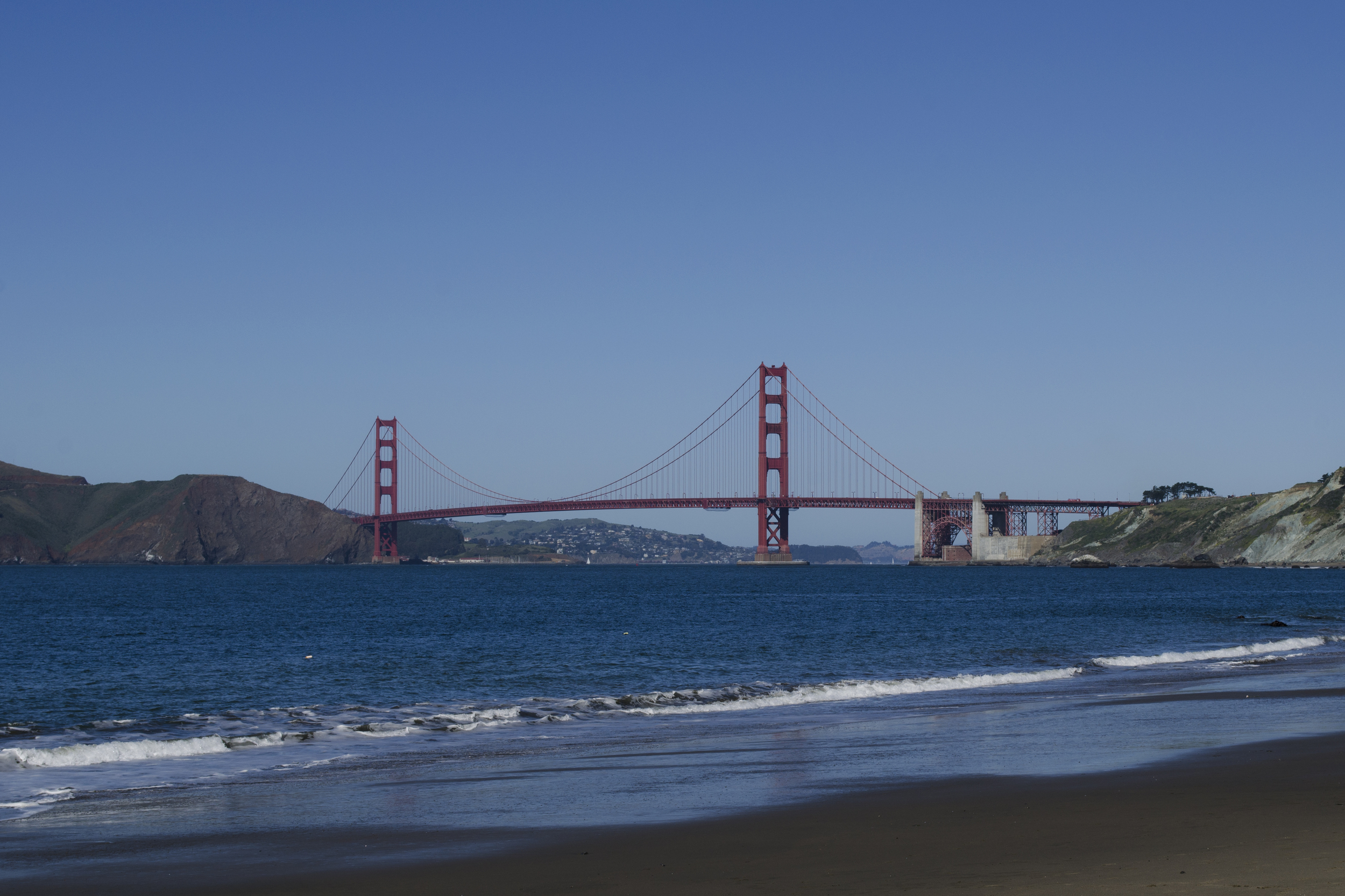 The Golden Gate Bridge as seen from China Beach