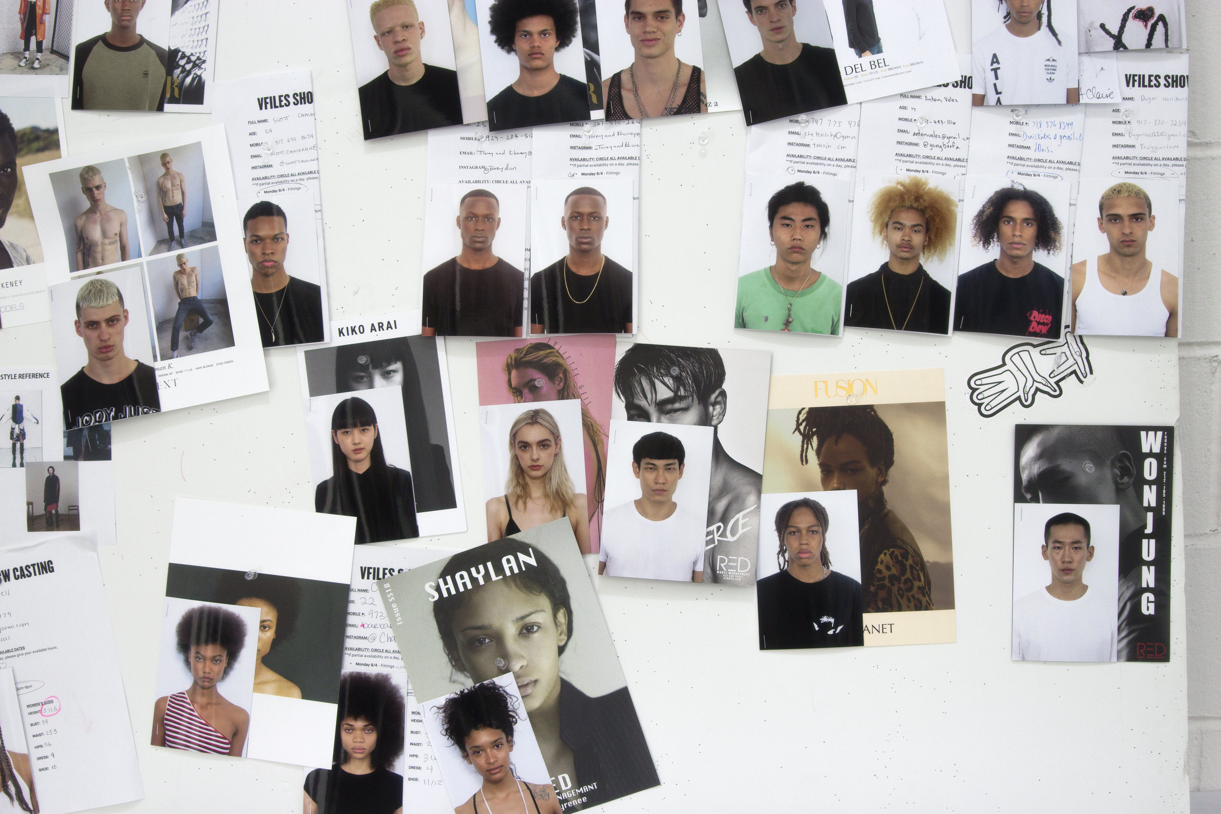 (VFILES' casting board by Sophia Wilson for Issue 6)