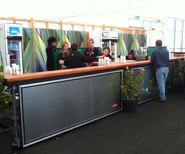 Mobile Bar on Wheels – RWC, The Cloud 2011