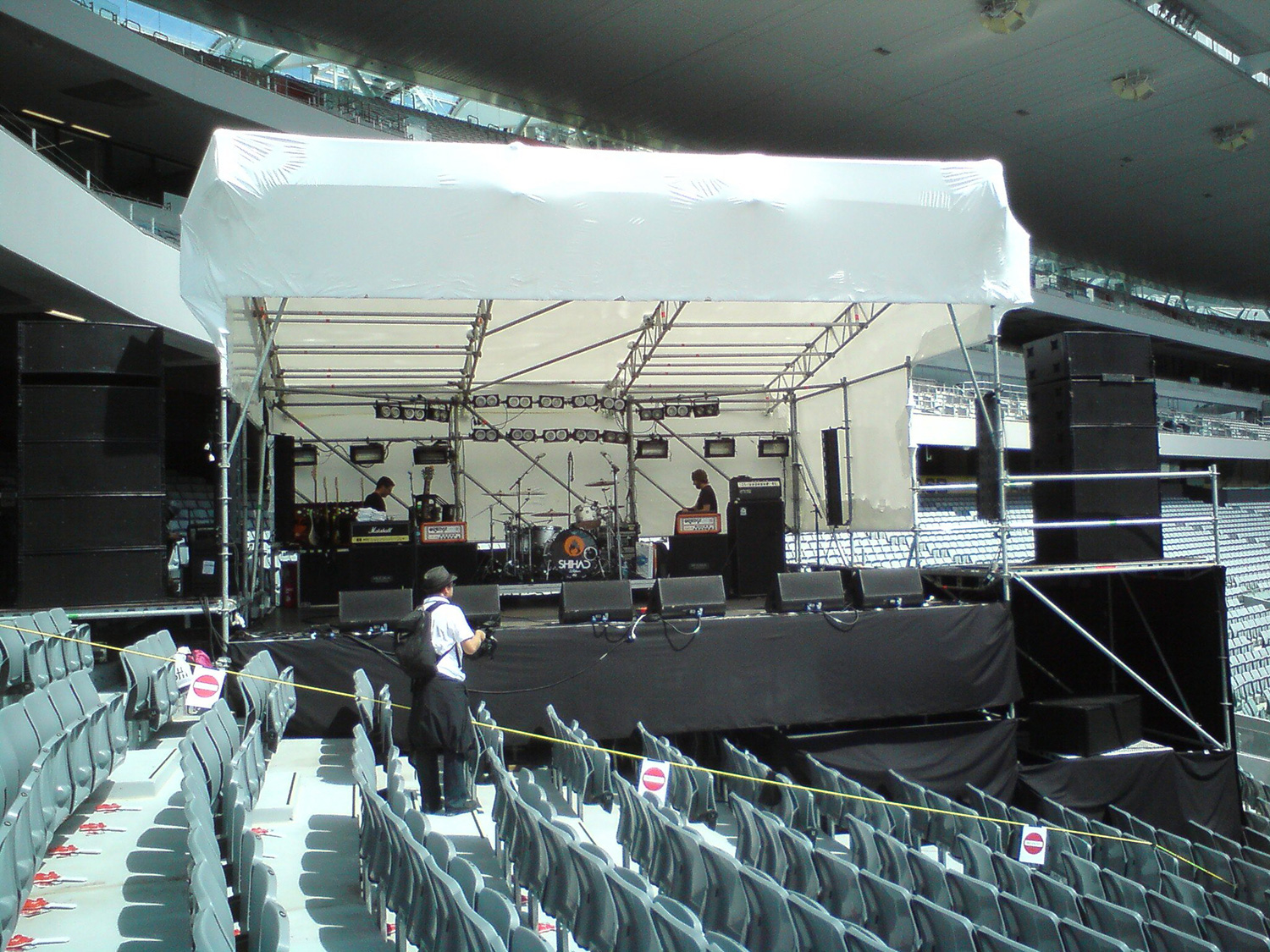 Stage in the Stands at Eden Park for Shihad