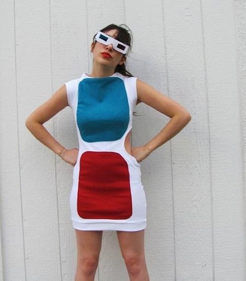 3d glasses dress