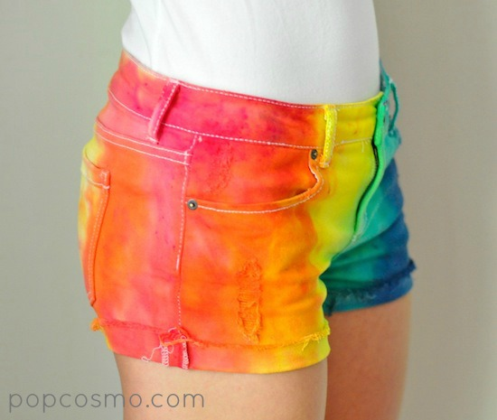 Tie-Dyed shorts tutorial