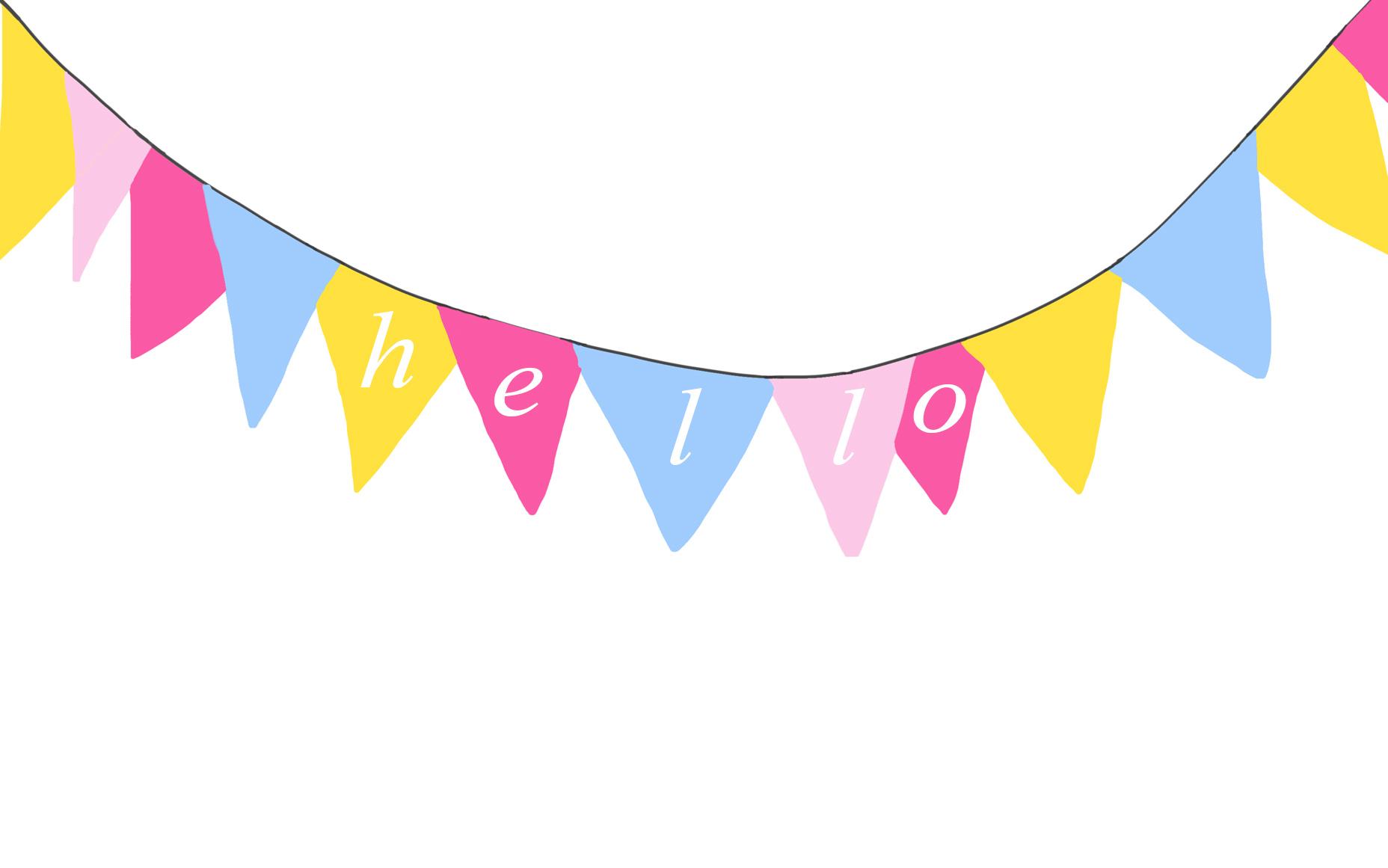 hello banner free desktop downloadable