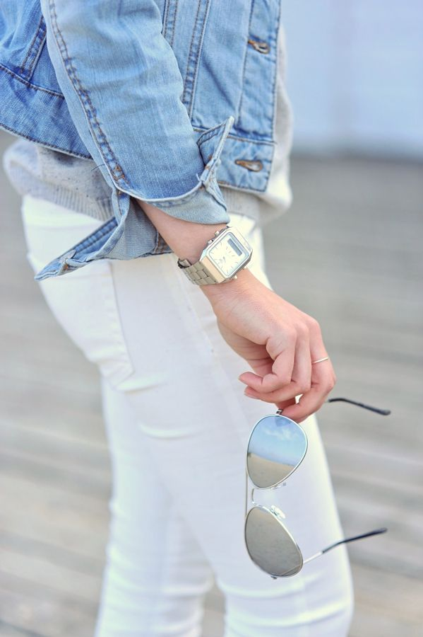 cute white jeans