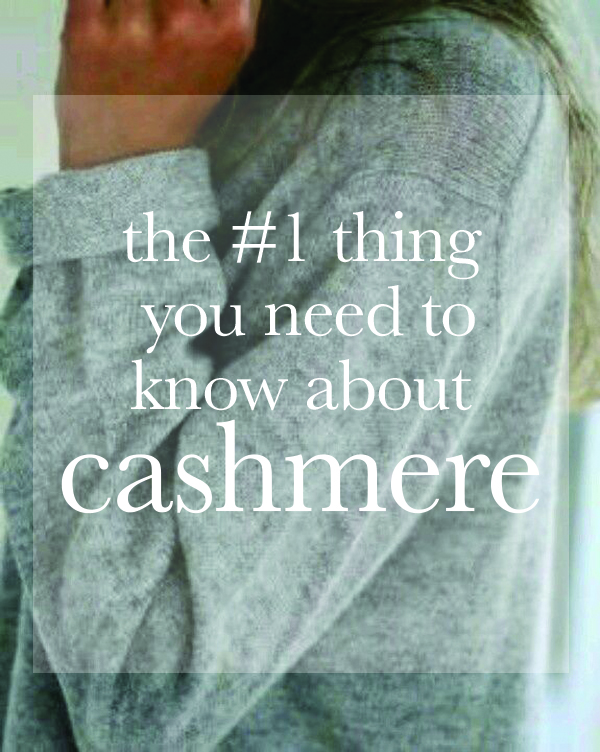 cashmere sweater tips