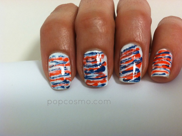 red white blue nails