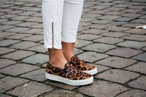 leopard slip ons