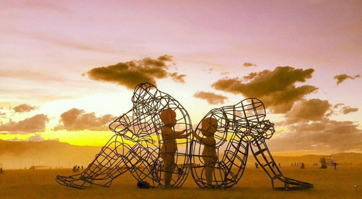 "(art cred: ""Love"" Art installation at Burning Man 2015 by ALexandr Milov)"