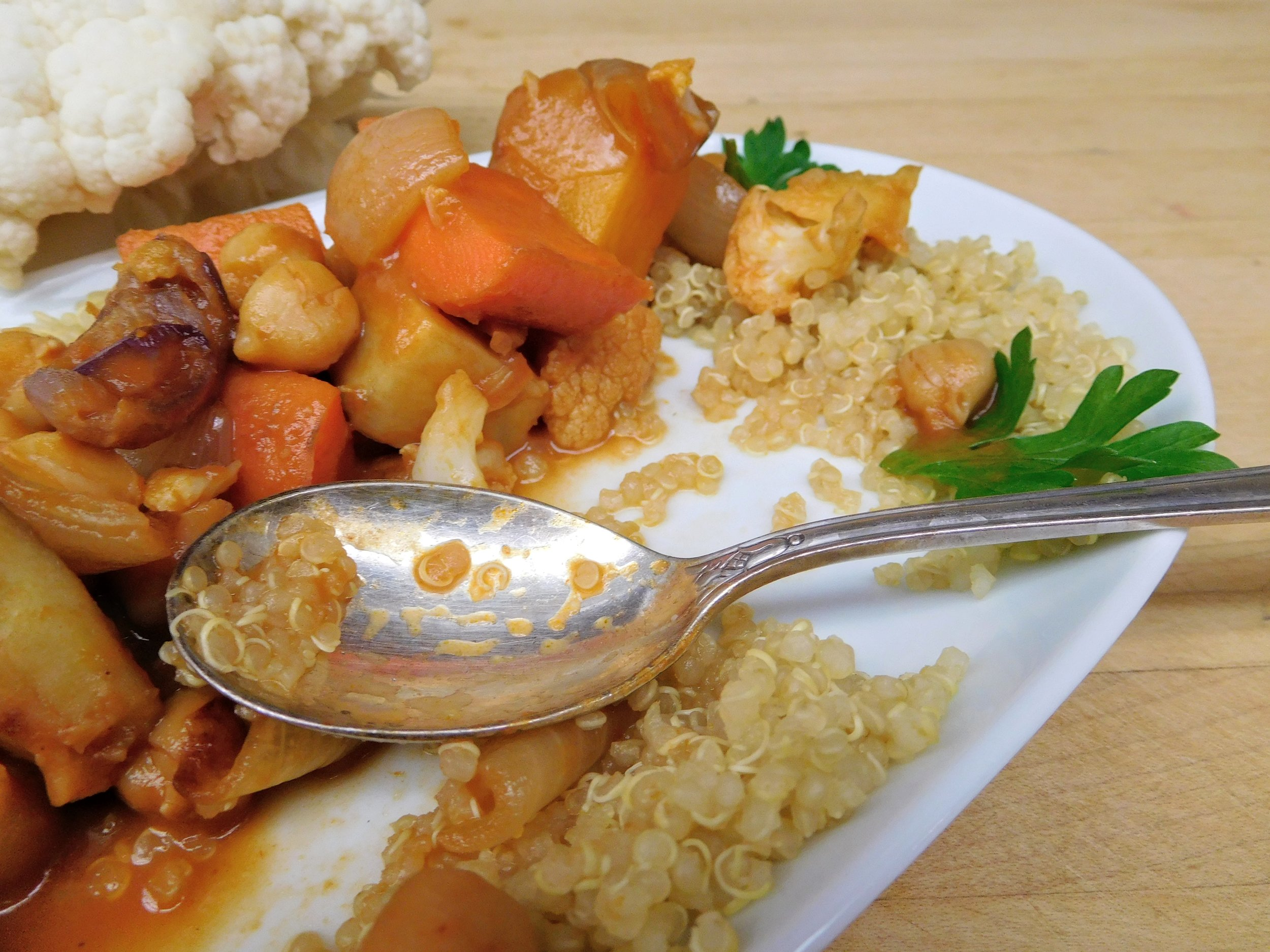 Roasted Vegetable + Chickpea Stew