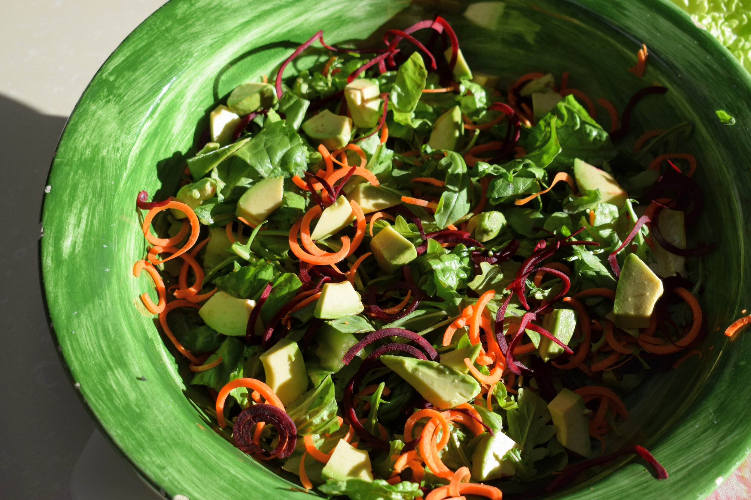 Spiralized Carrot + Beet Salad