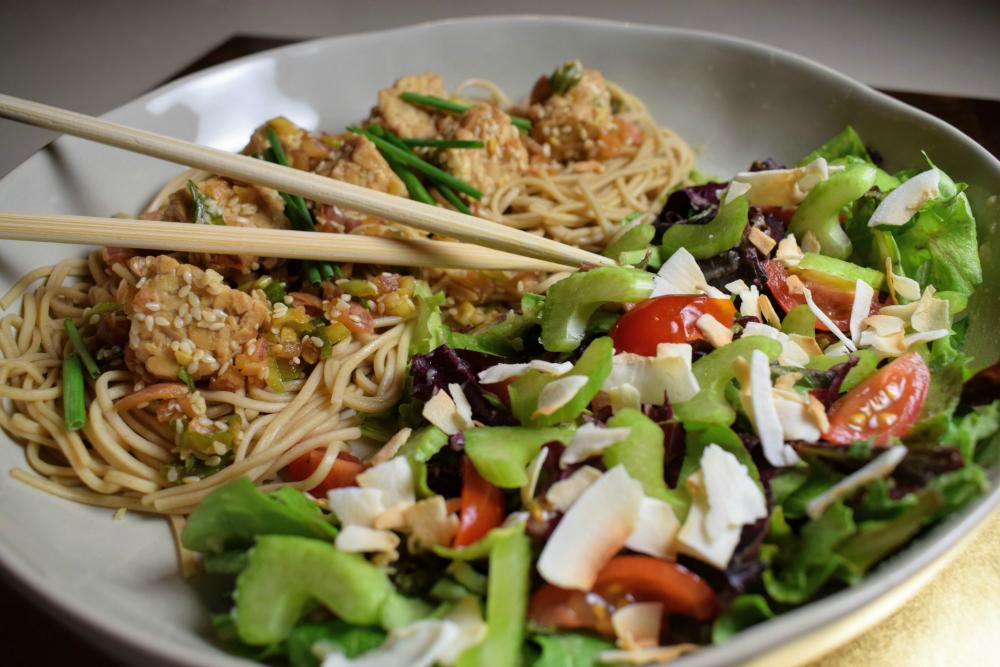 June 16 poke bowl and salad.JPG