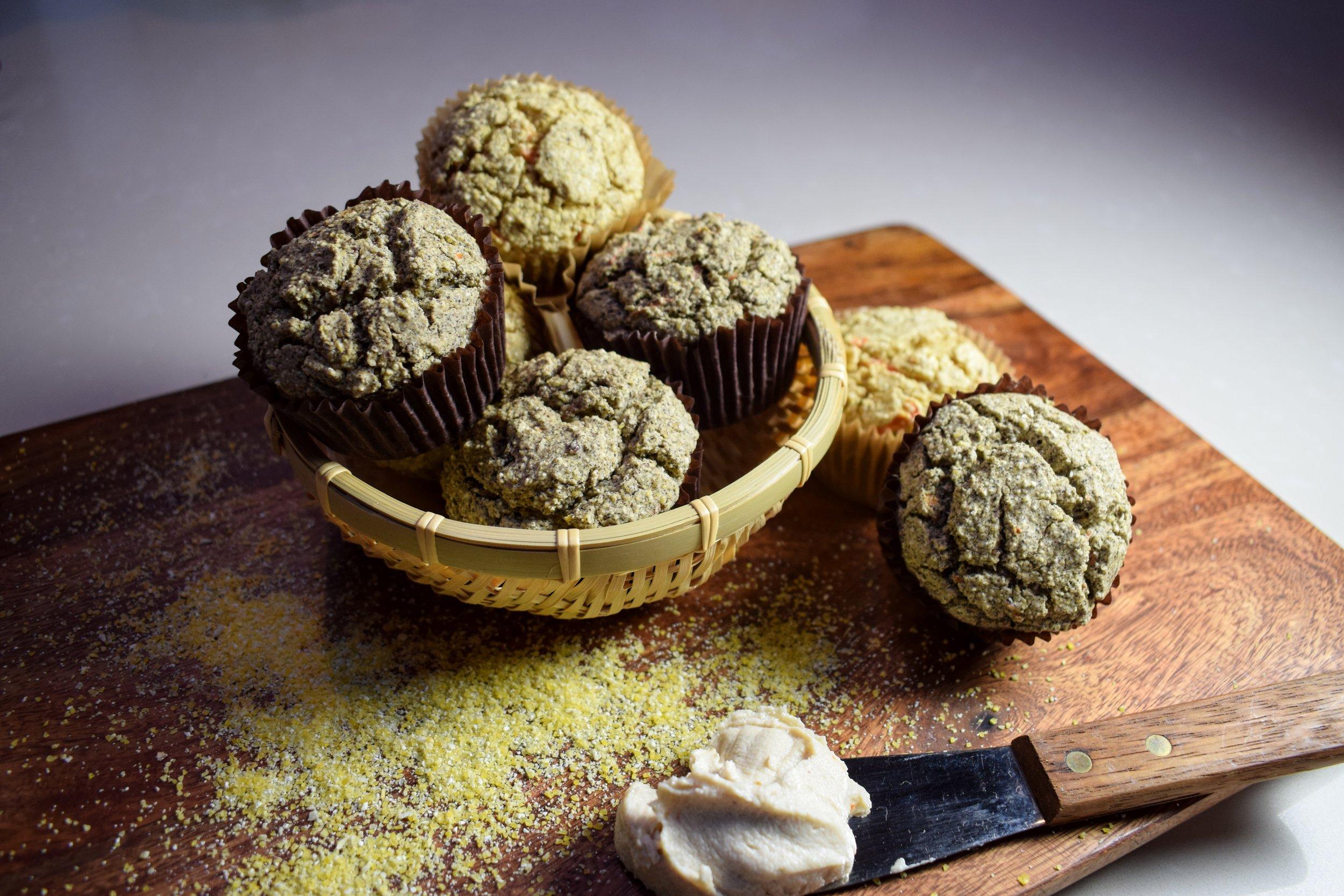 June 2 muffins w cashew cheese knife.JPG