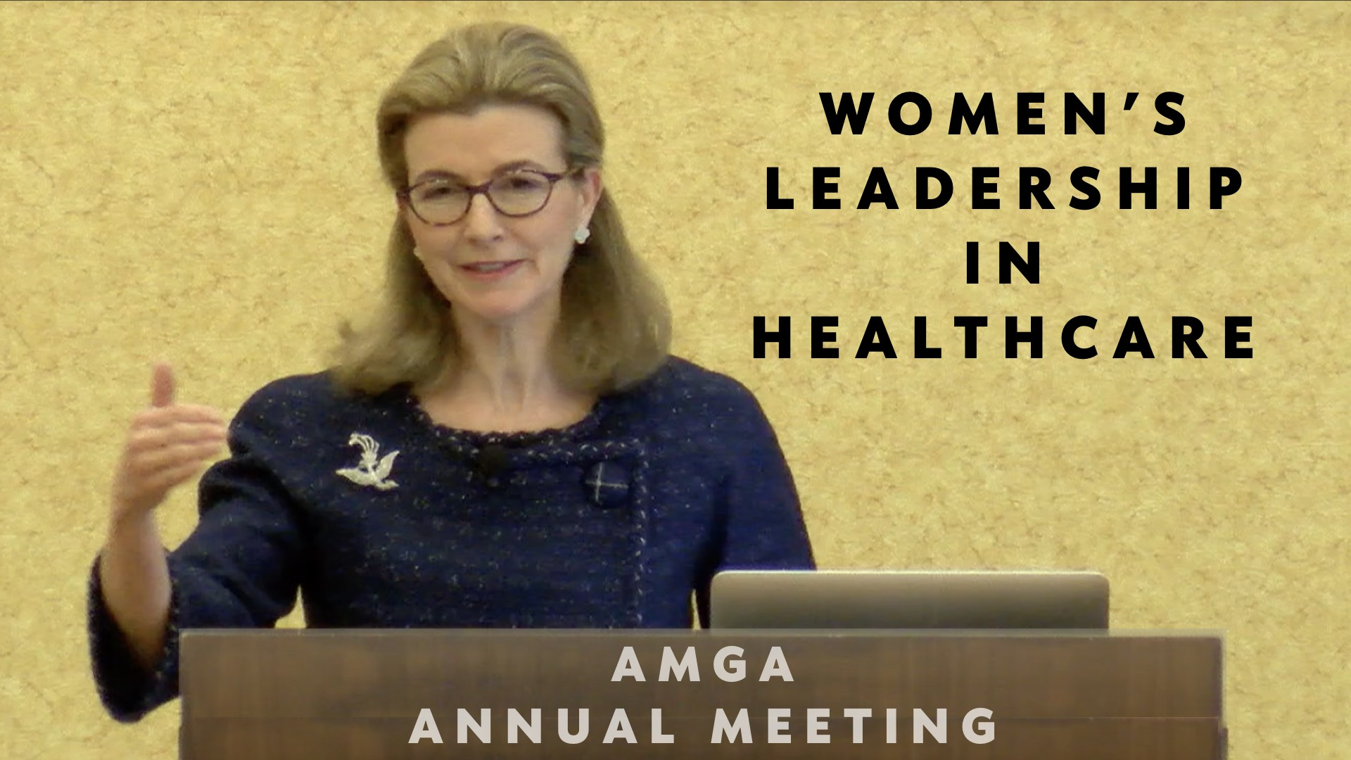 Christine Spadafor spoke on gender diversity and other leadership issues for women in healthcare.