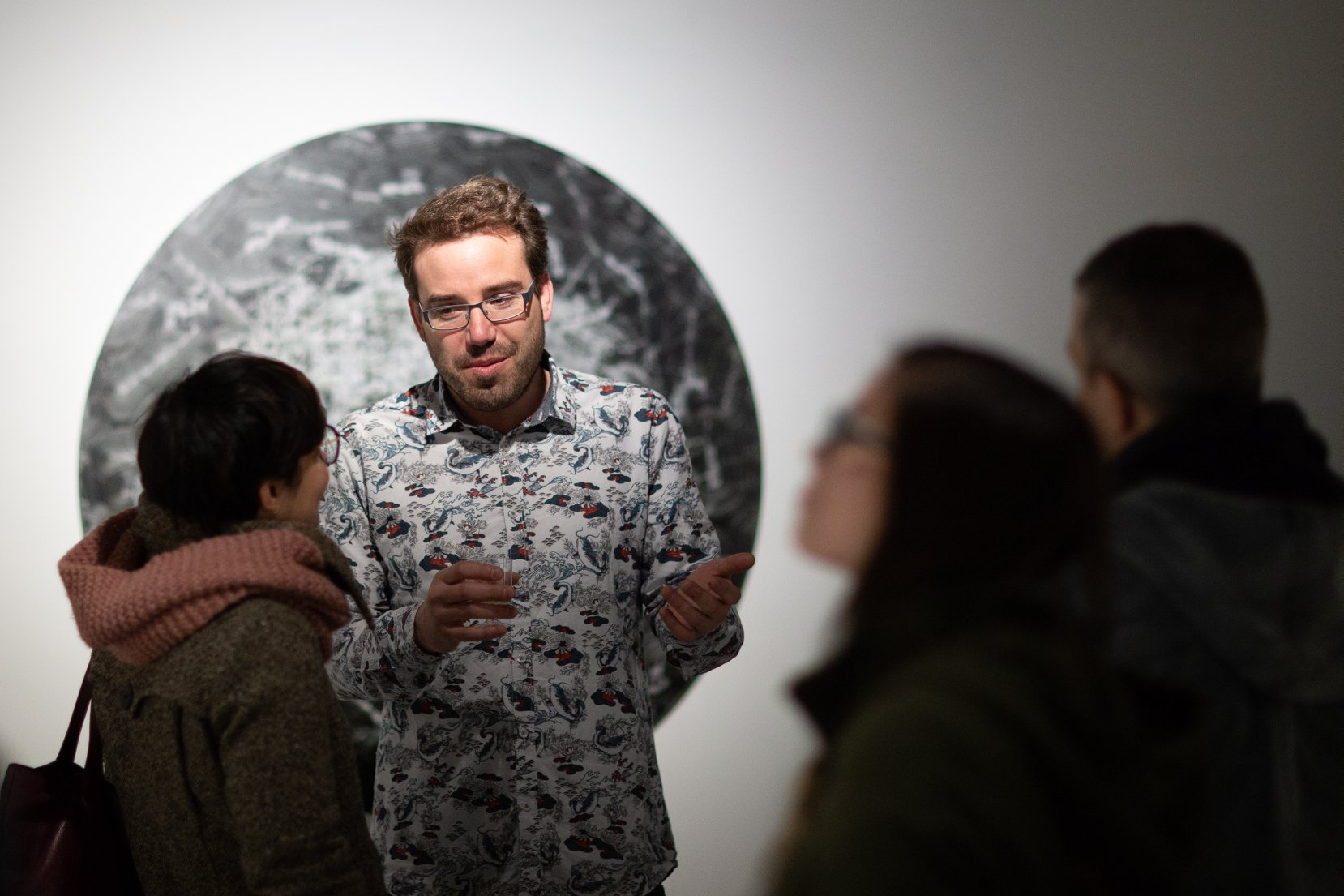 Laurent Lamarche au vernissage de Stratification - 2018Galerie Art Mûr, Montréal, Québec, Canada