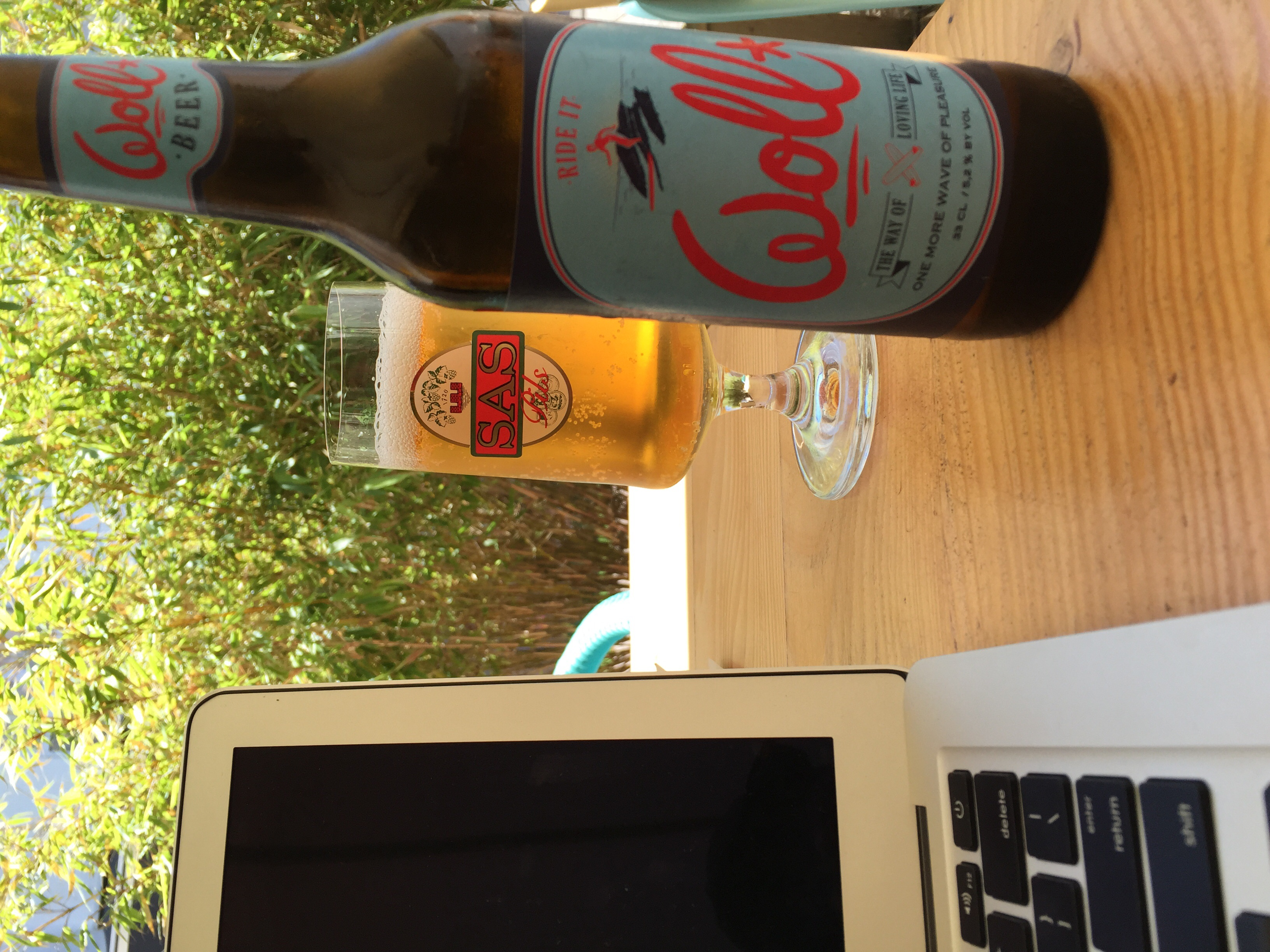 Way Of Living Life (WOLL). Locally brewed Hossegor beer.