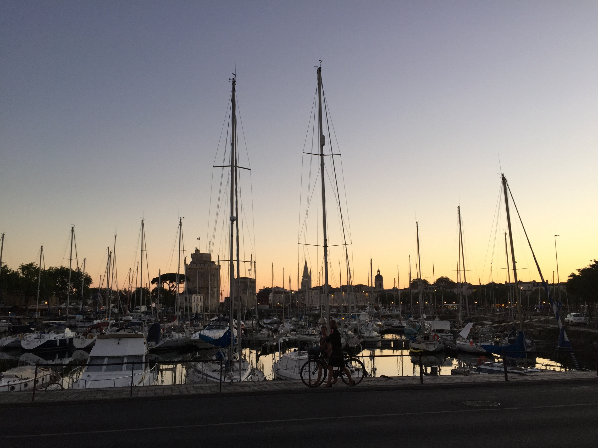 Sunset. La Rochelle.