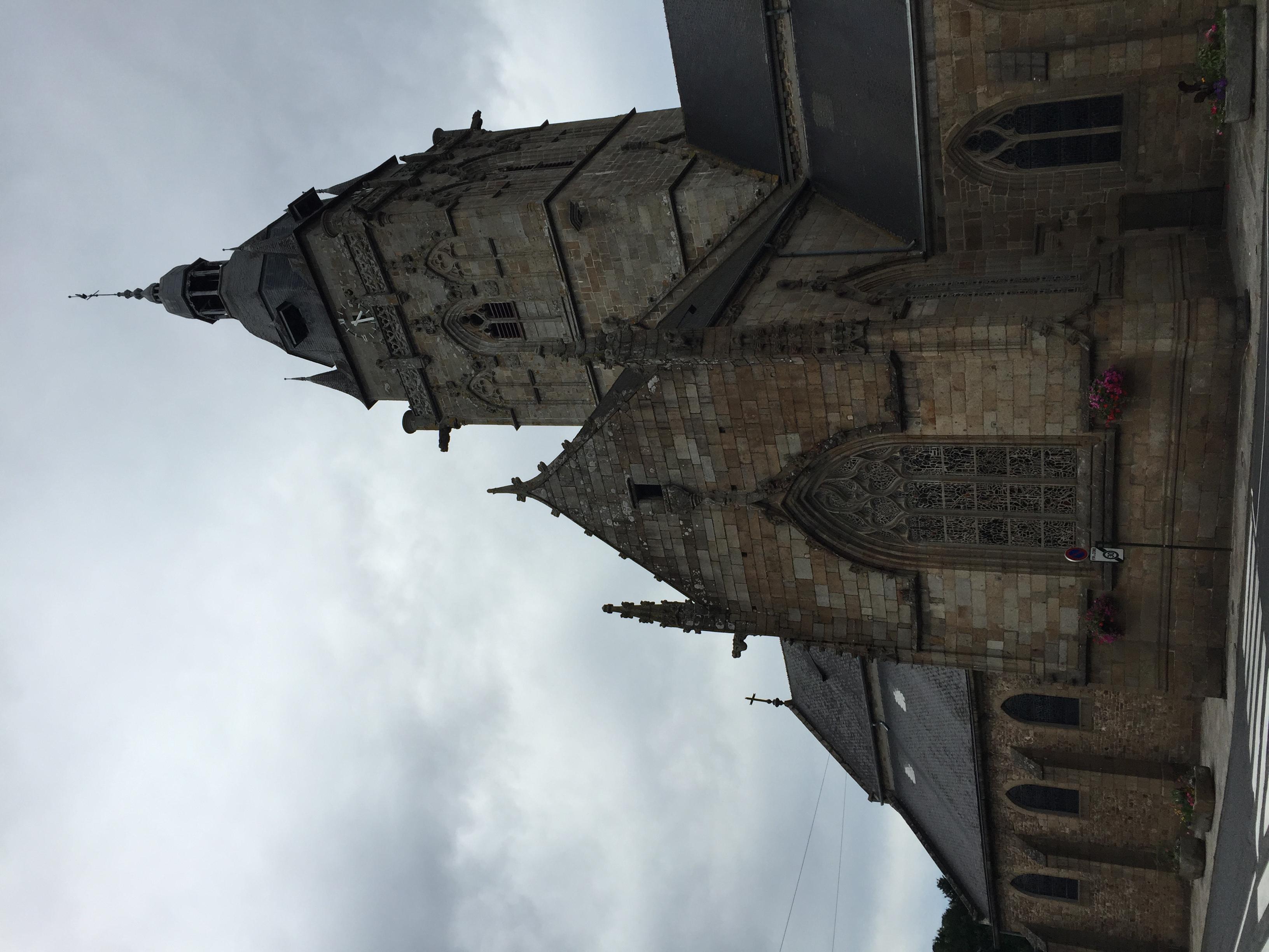 Villedieu-les-Poêles église clock tower.