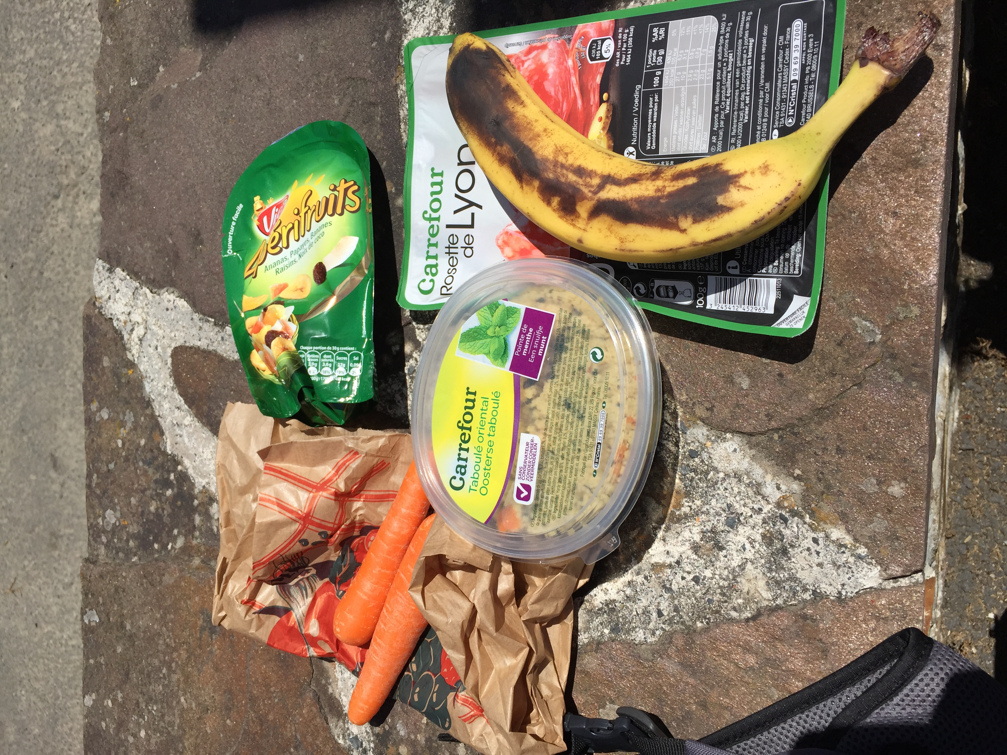 Typical lunch when I'm on the bike.