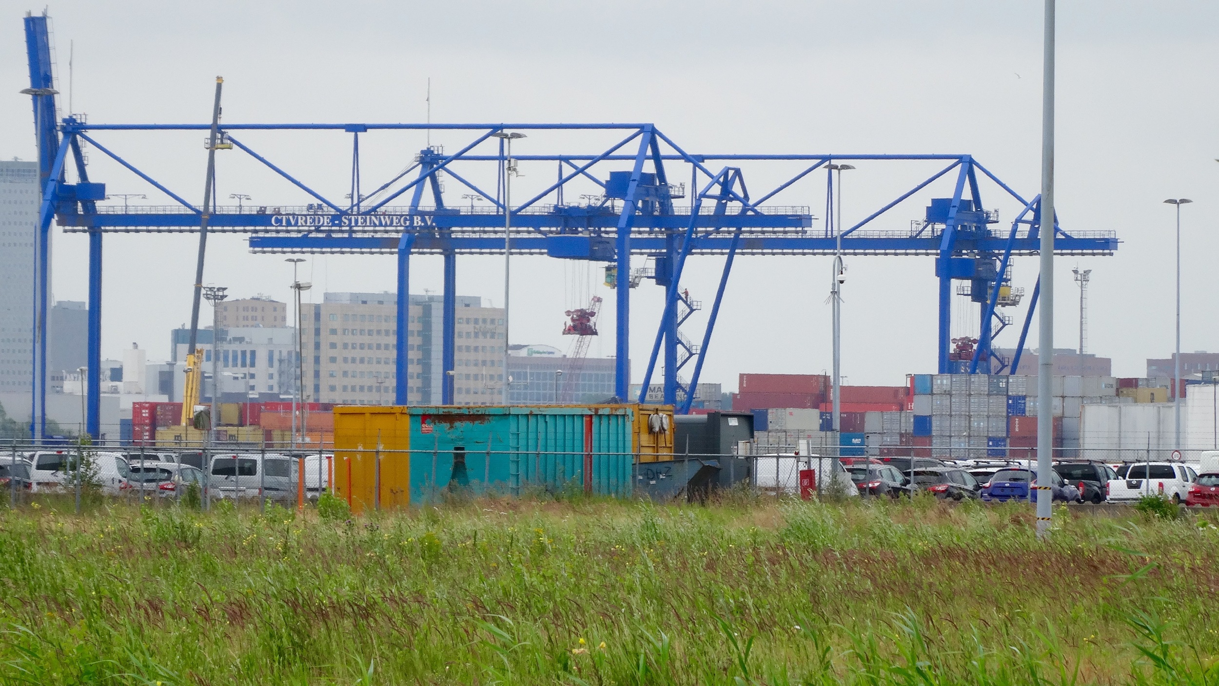 Terrible pic of the Amsterdam port, but that was as close as they would allow me to get.
