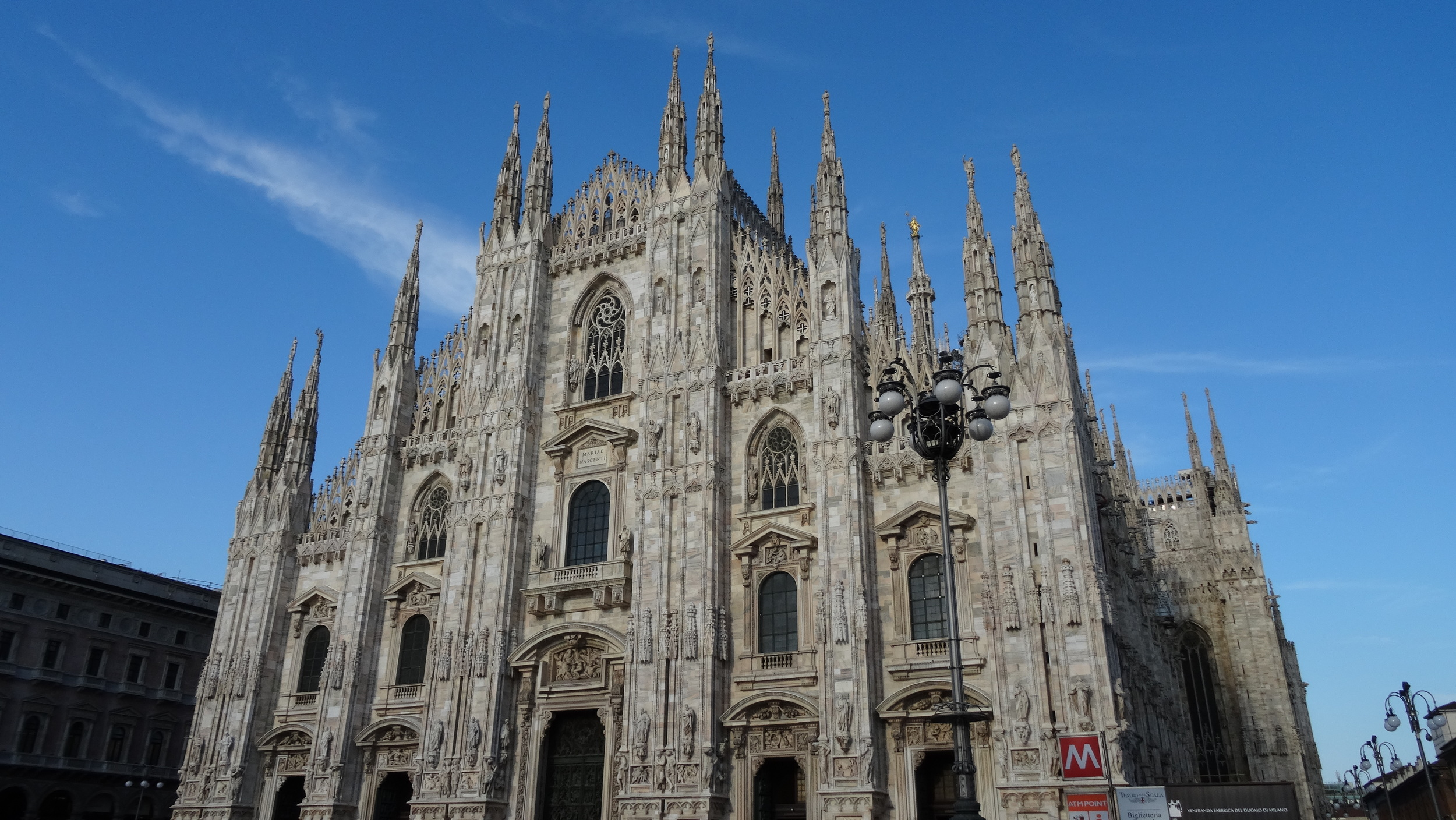 Dumo di Milano. One of the most magnificent cathedrals I've ever seen, and there's a bunch of good ones in Europe.