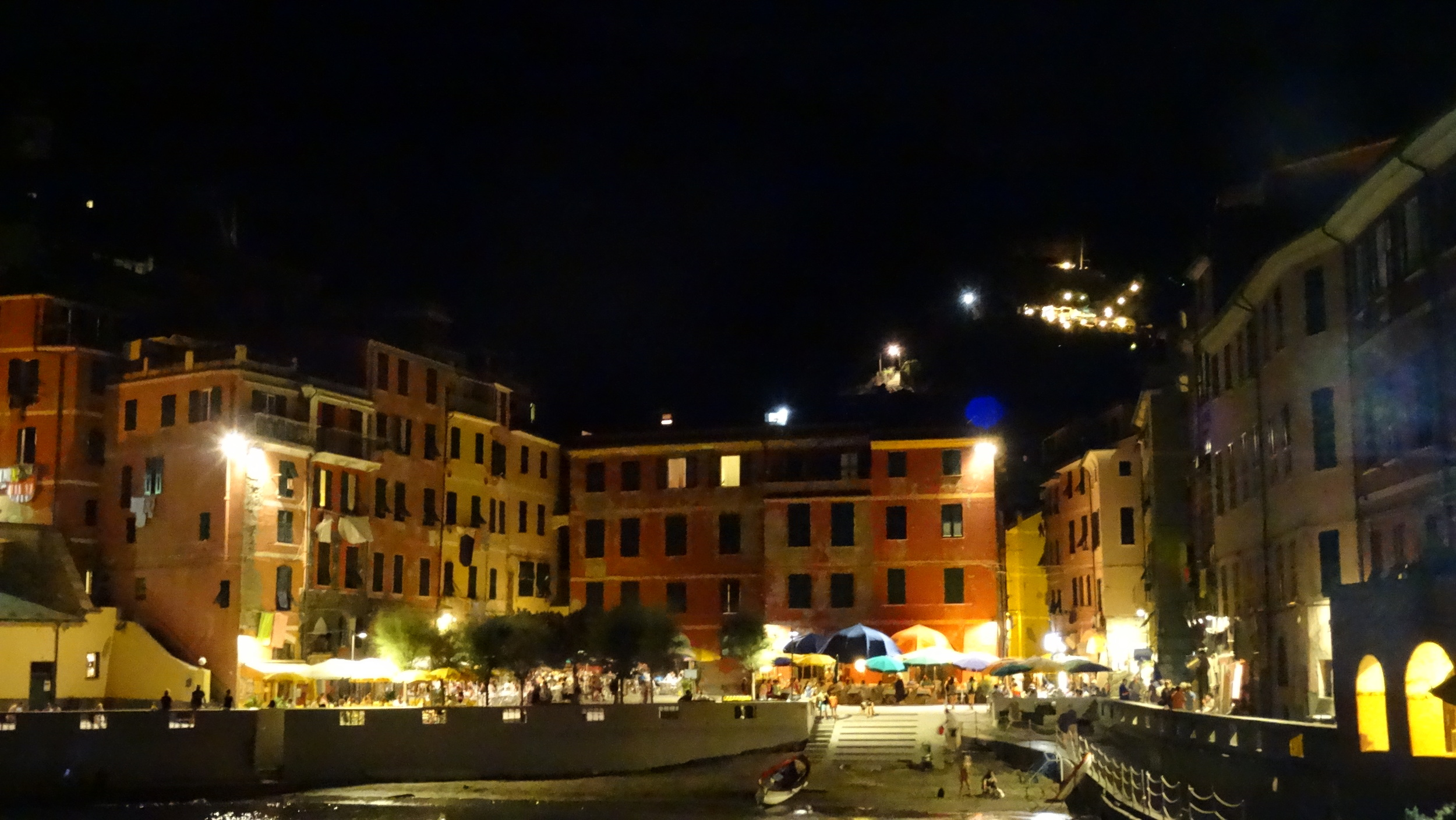 Vernazza at night. This is one of the 5 (cinque) villages in Cinque Terre and where Jordan and I stayed.