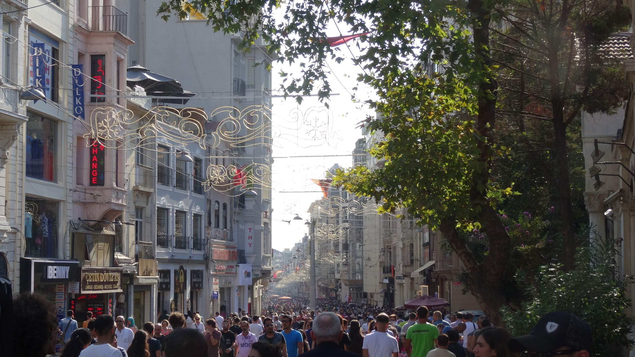 The packed neighborhood of Beyoglu.