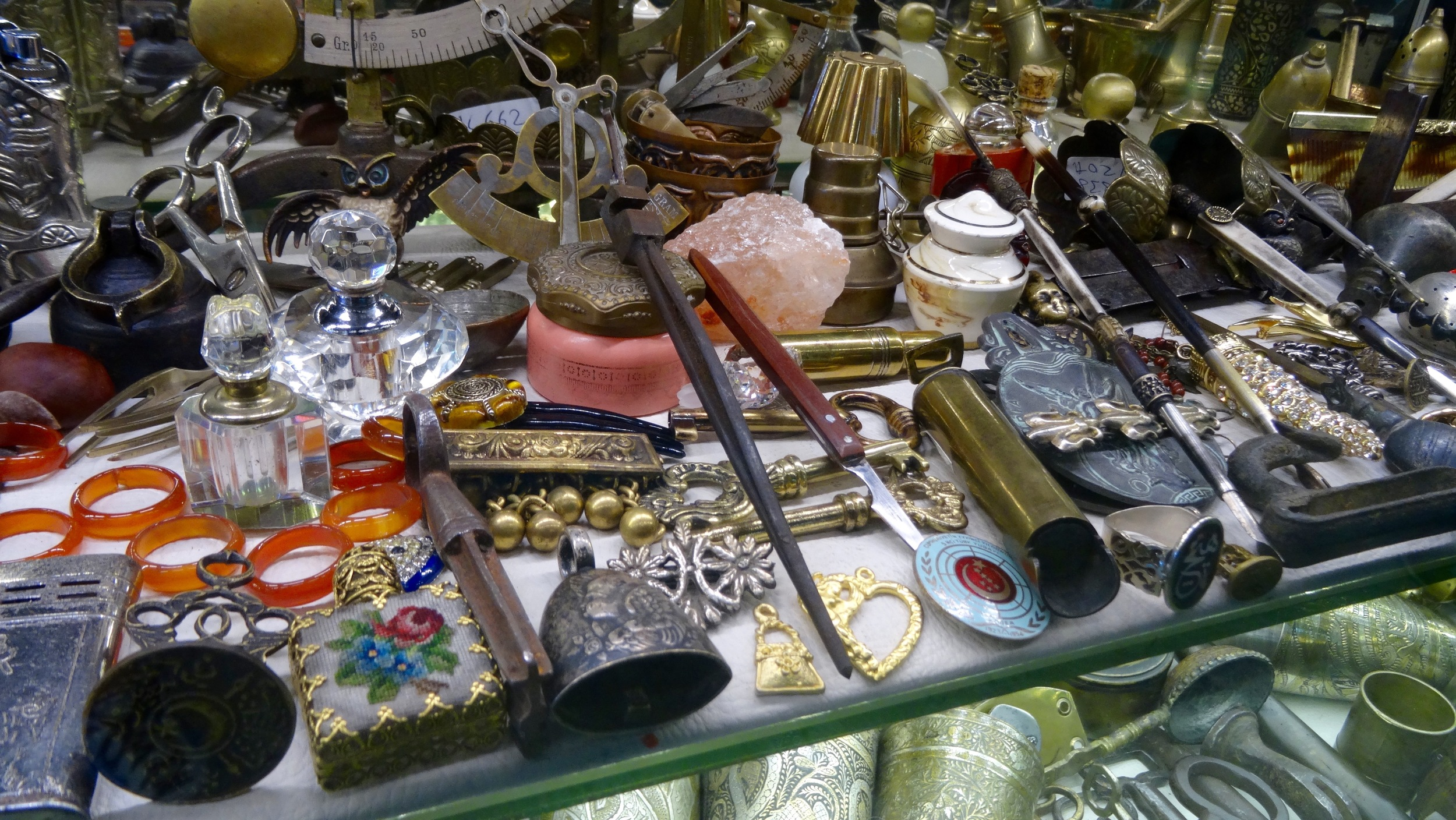 Antique trinquets left over from hundreds of years of bartering in the Grand Bazaar
