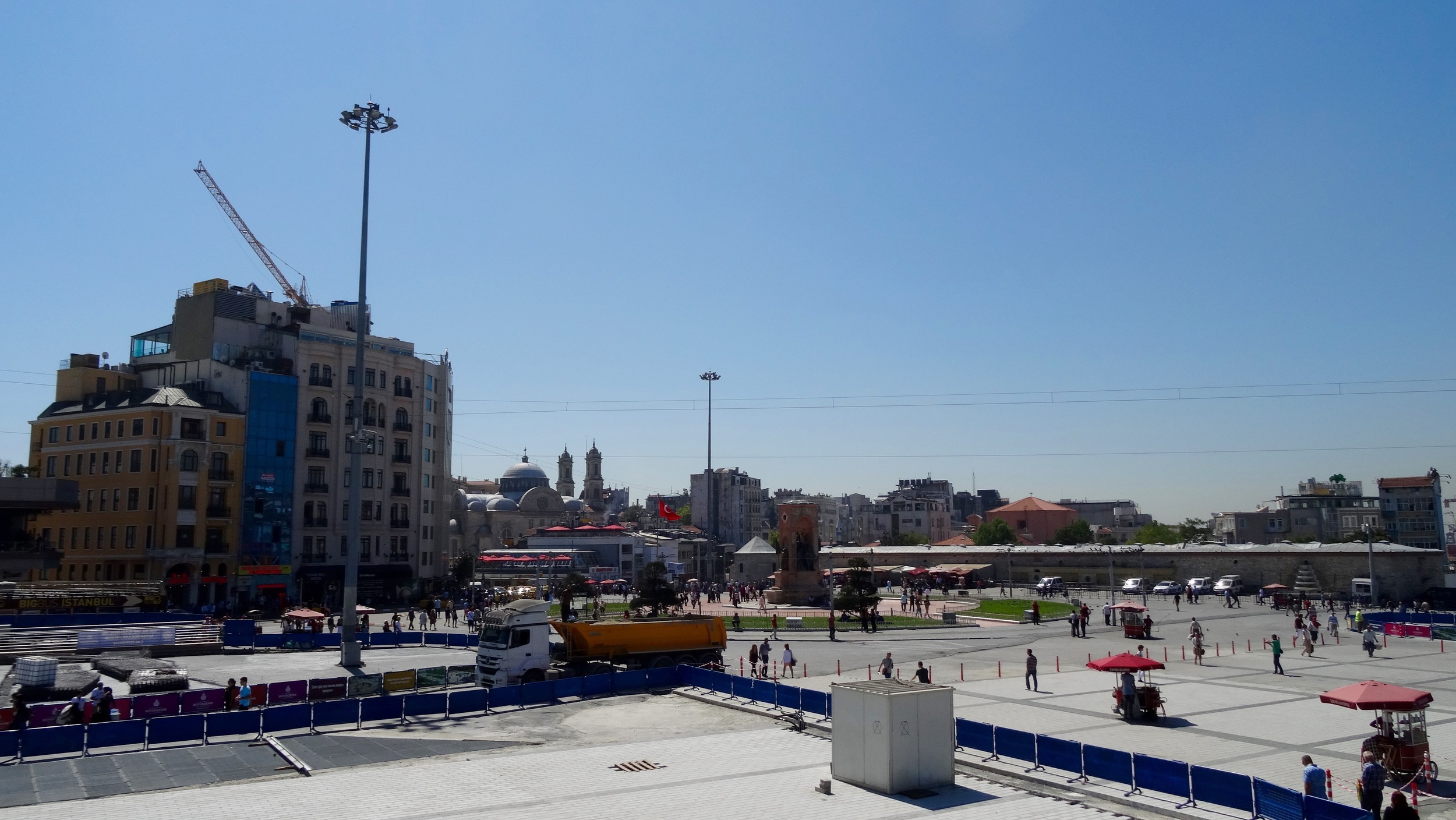Taksim Square. The heart of Istanbul. This is the site of many demonstrations, including the 2013 Gezi Park protests.