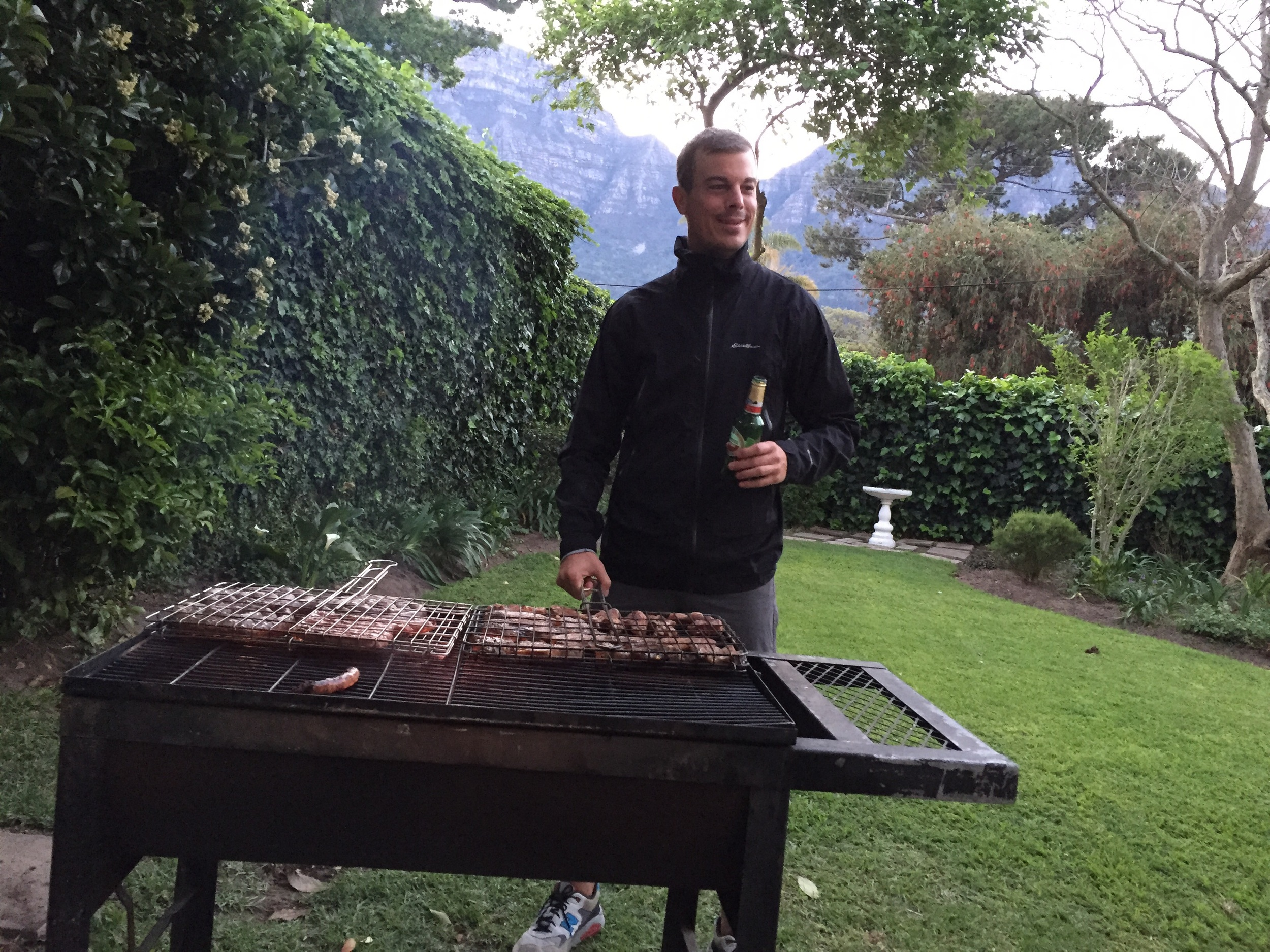 I was appointed head Braai master for about a minute. Just enough time to snap a pic.