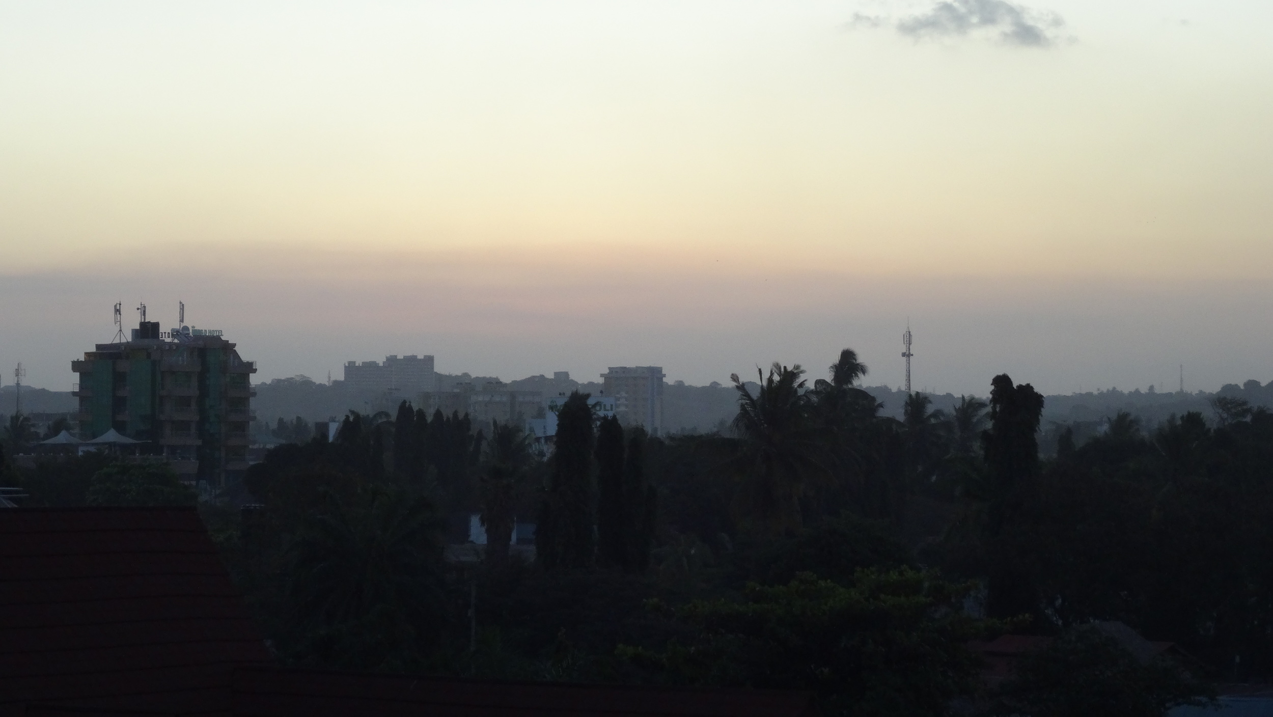 A view from my hotel in Dar.