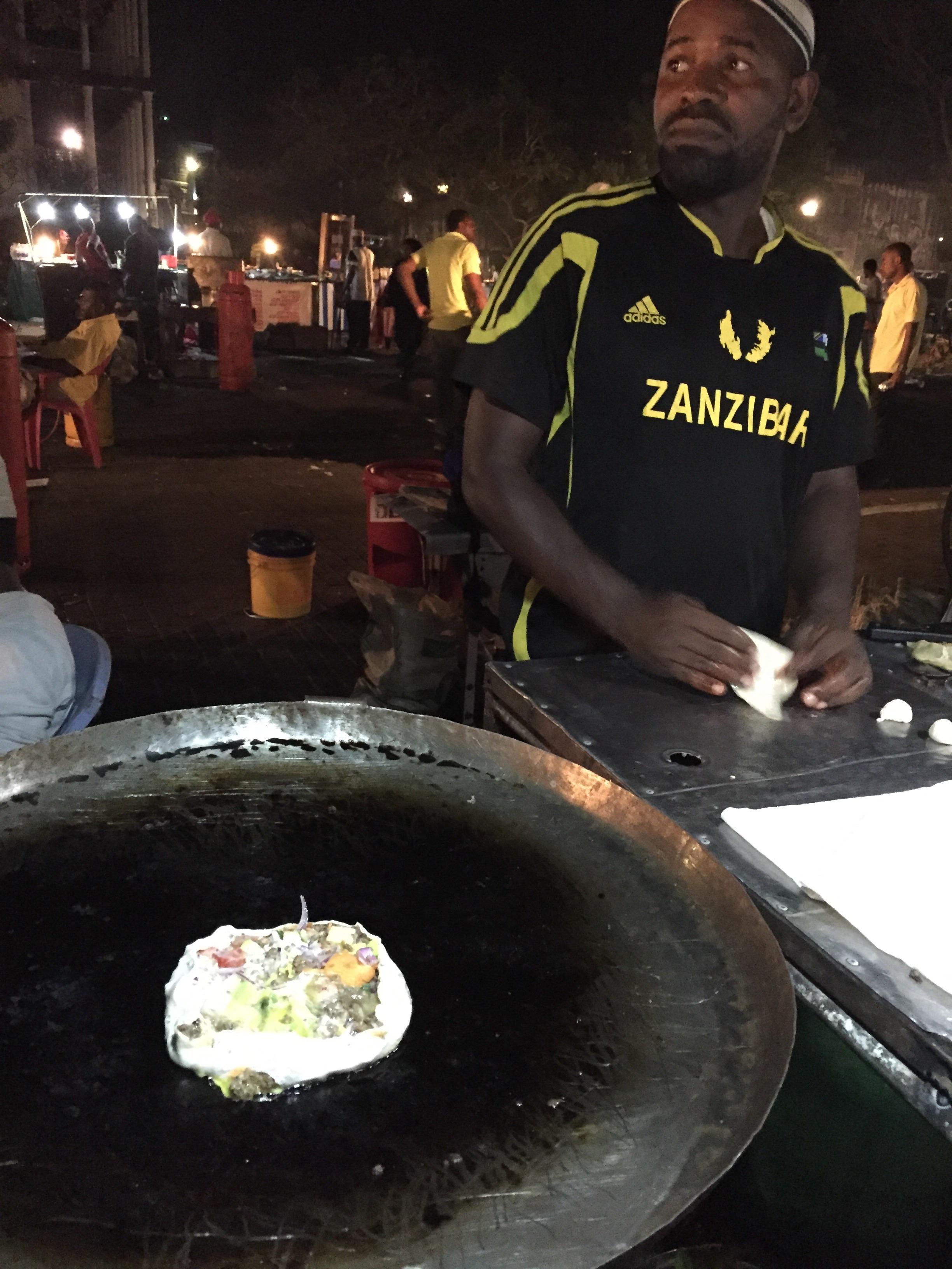 Zanzibar pizza. It's like thin crust Chicago style pizza. That's gotta be an oxymoron, right? Whateves, it's damn good.