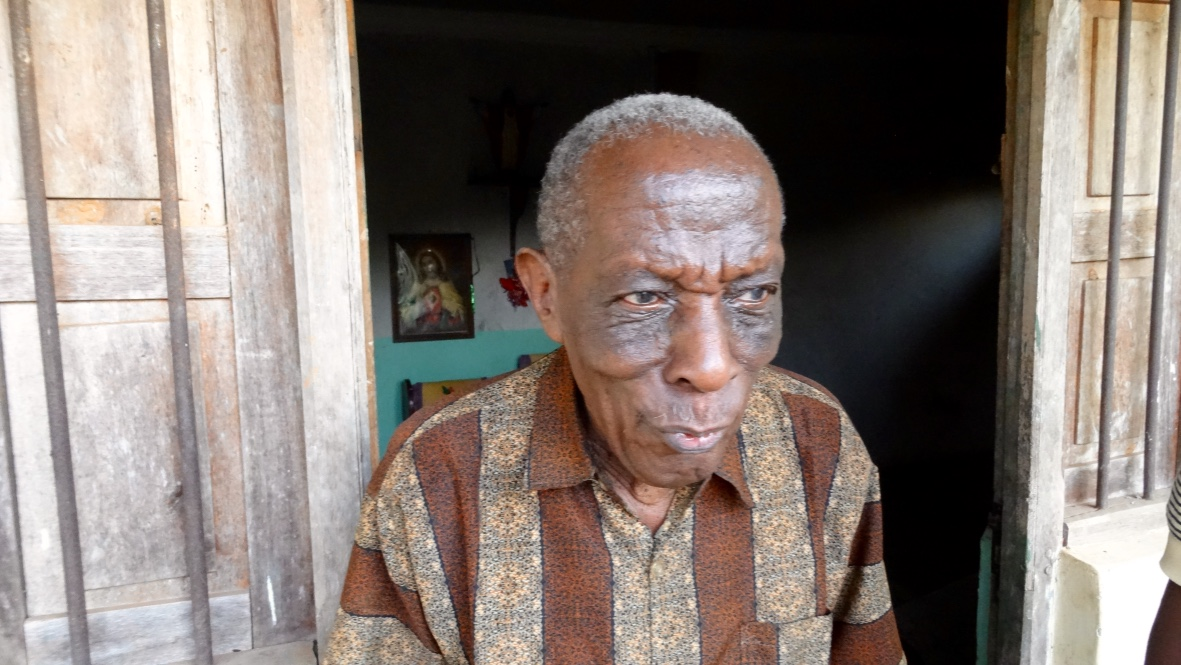 Constitine Mutalemwa's father. If I remember correctly he's in his early 90s. Speaks English and is a former physician. Luckily we caught him before he went to bed (6pm / dark).