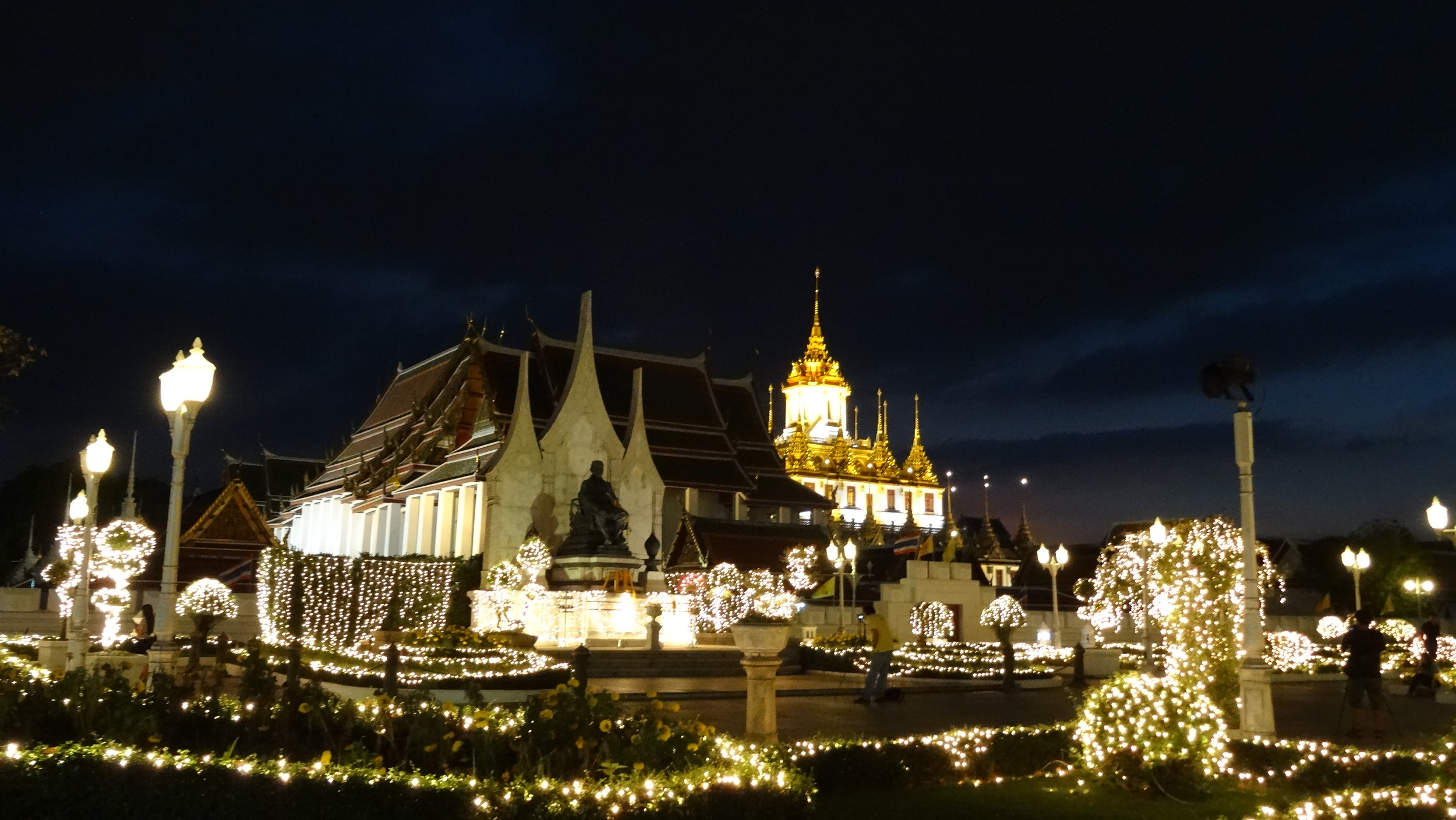Grand Palace, dusk. A wonderland of temples and spectacle.
