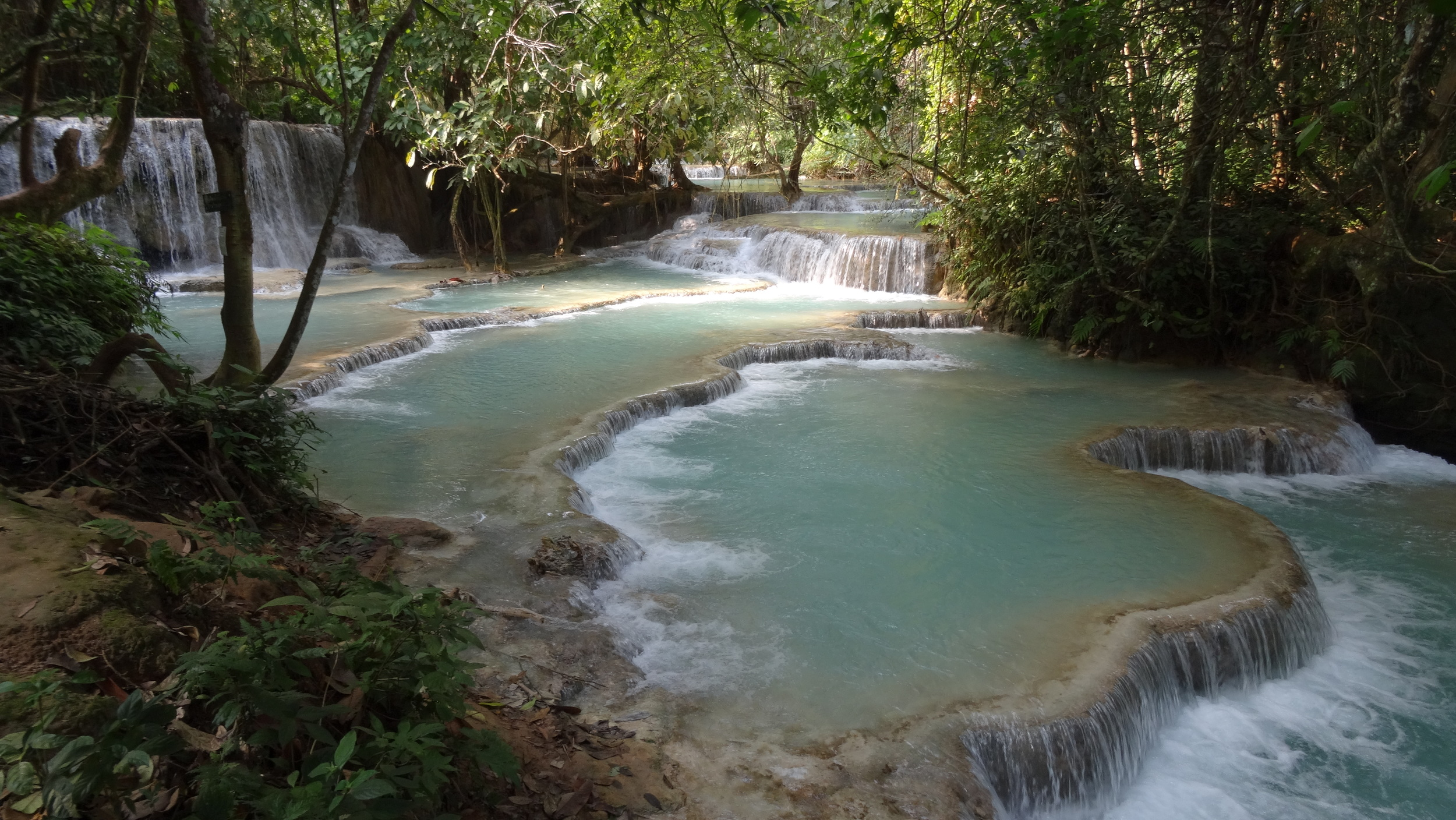 Kouangxi Water Fall, Luang Prabang, Laos. One of the most magical places I've been.