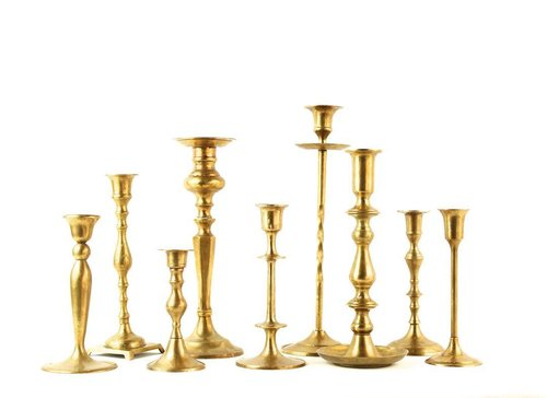 BRASS CANDLE STICKS -MIXED VARIETY - $3 EACH