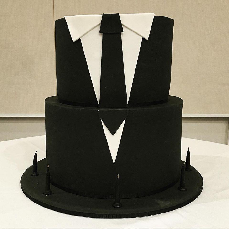 Black Suit & Tie Cake