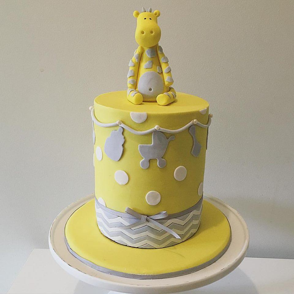 Yellow Baby Shower Cake