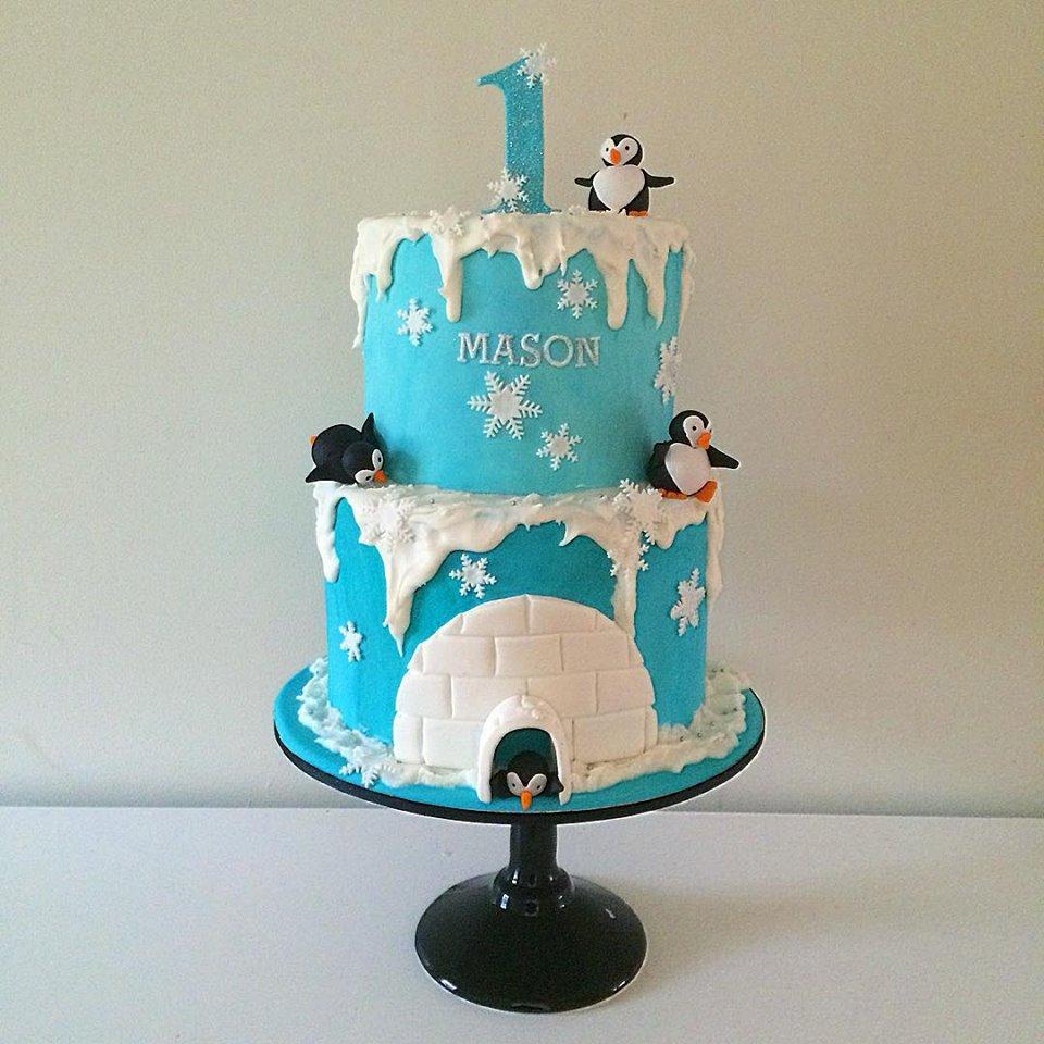 Penguin 1st Birthday Cake