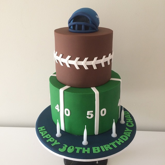 NFL Football Birthday Cake