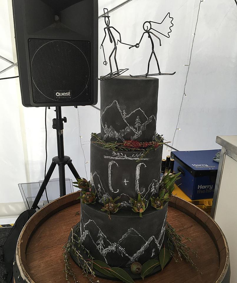 Blackboard & Chalk Wedding Cake