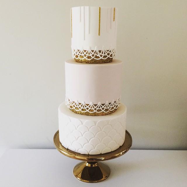Copy of Gold Art Deco Wedding Cake