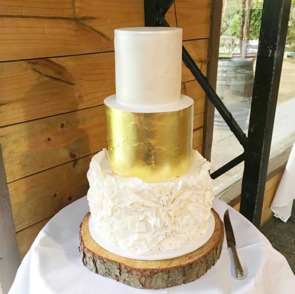 Copy of Gold Leaf Wedding Cake