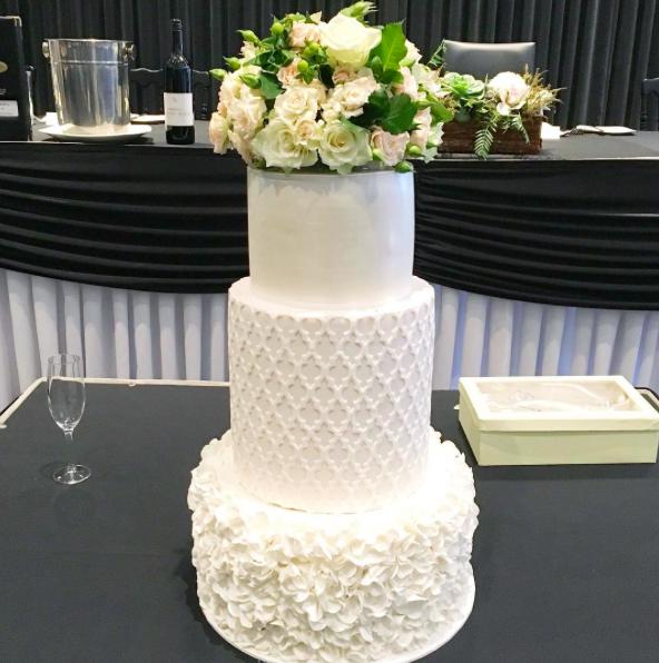Copy of White Wedding Cake with Fresh Flowers