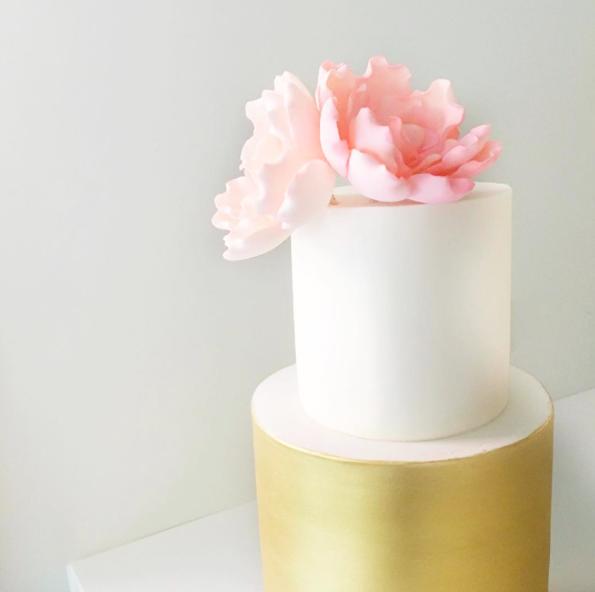 Copy of Wedding Cake with Sugar Flowers