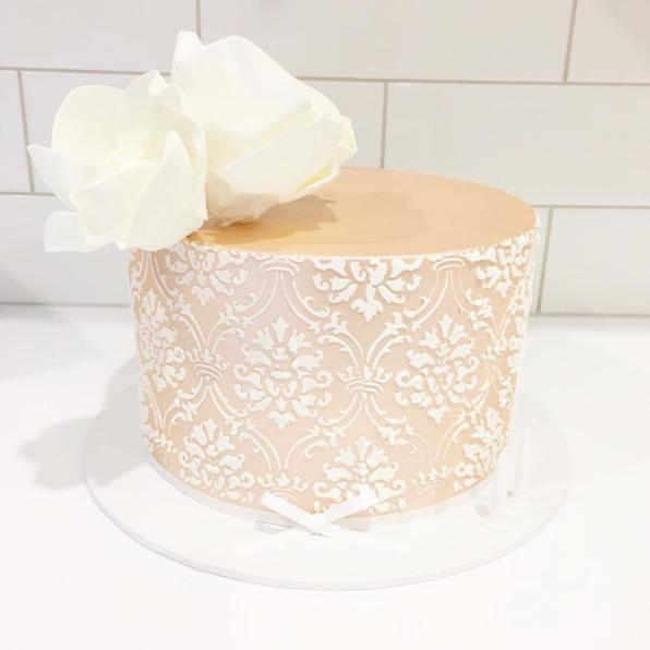 Blush Lustre Cake