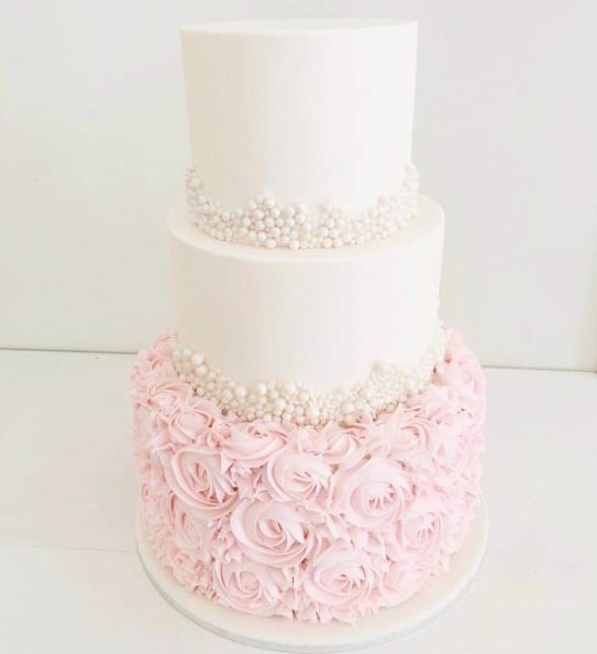 Pretty Pink Birthday Cake