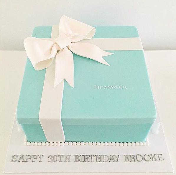 Tiffany & Co Box Cake