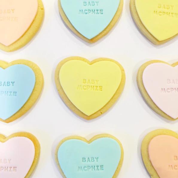 Pastel Heart Shaped Cookies